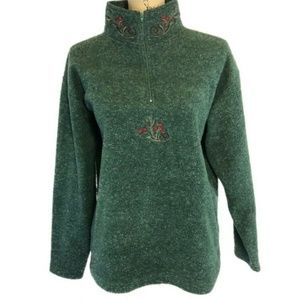 Vintage Victorias Secret Country Green Fleece Paja